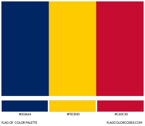 Chad Flag Color Palette