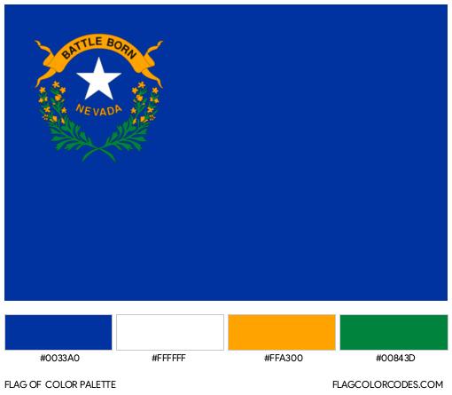 Nevada Flag Color Palette