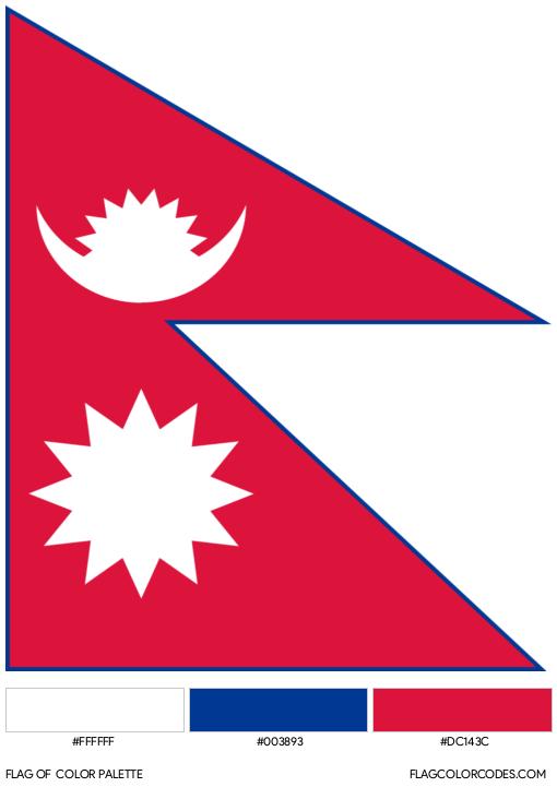 Nepal Flag Color Palette