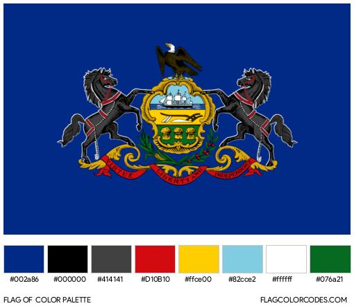 Pennsylvania Flag Color Palette