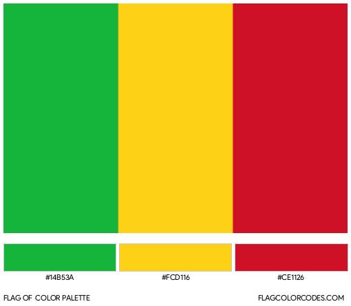 Mali Flag Color Palette