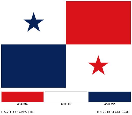 Panama Flag Color Palette