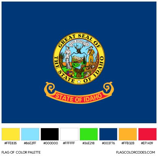 Idaho Flag Color Palette