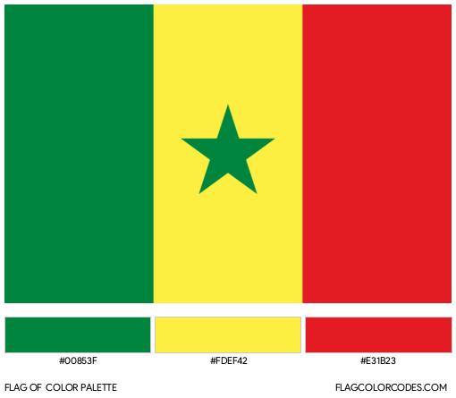 Senegal Flag Color Palette