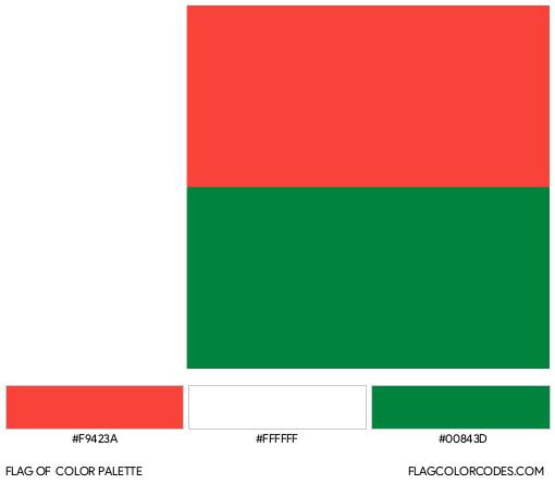 Madagascar Flag Color Palette