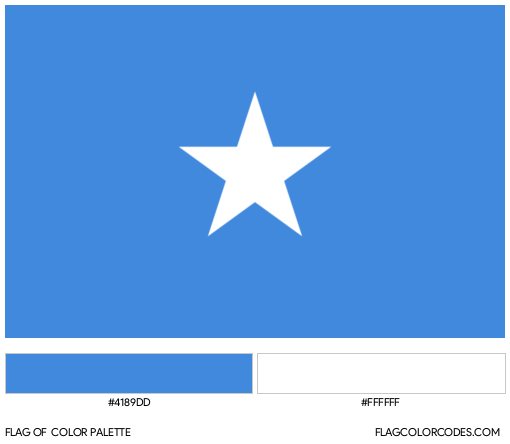 Somalia Flag Color Palette