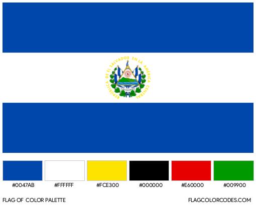 El Salvador Flag Color Palette