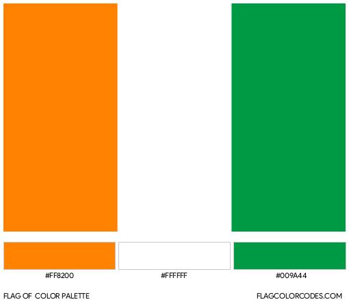 Ivory Coast Flag Color Palette