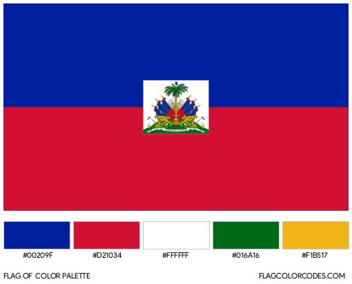 Haiti Flag Color Palette