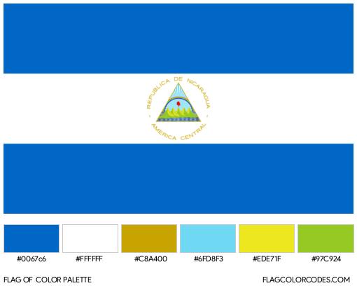 Nicaragua Flag Color Palette