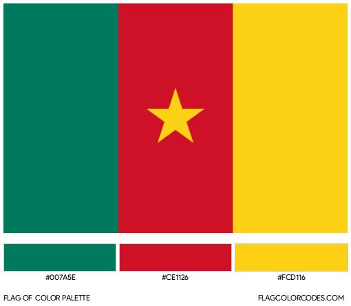 Cameroon Flag Color Palette