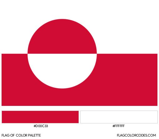 Greenland Flag Color Palette