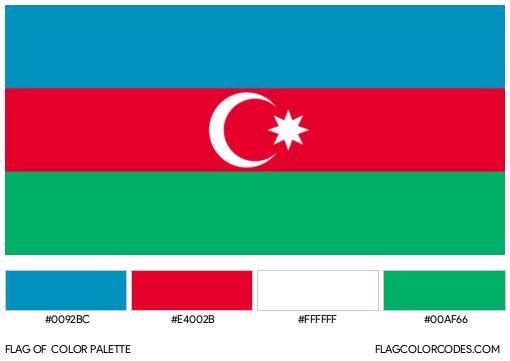Azerbaijan Flag Color Palette