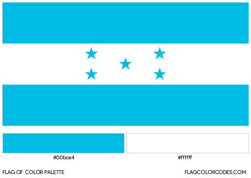 Honduras Flag Color Palette