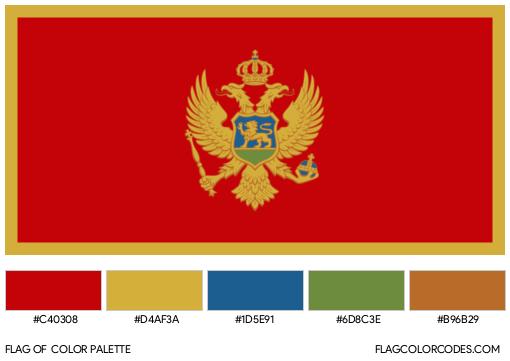 Montenegro Flag Color Palette
