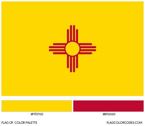 New Mexico Flag Color Palette