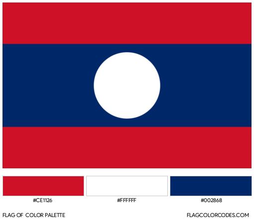 Laos Flag Color Palette