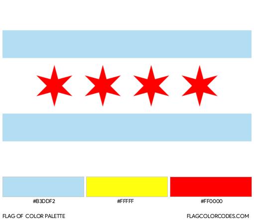 Chicago Flag Color Palette