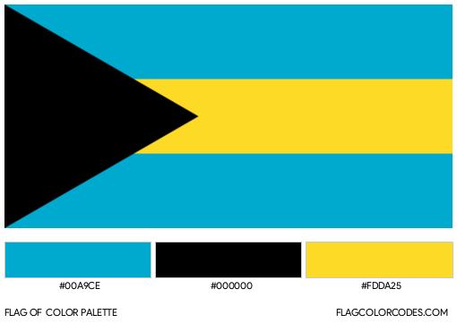 The Bahamas Flag Color Palette