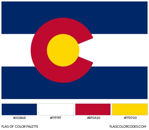 Colorado Flag Color Palette