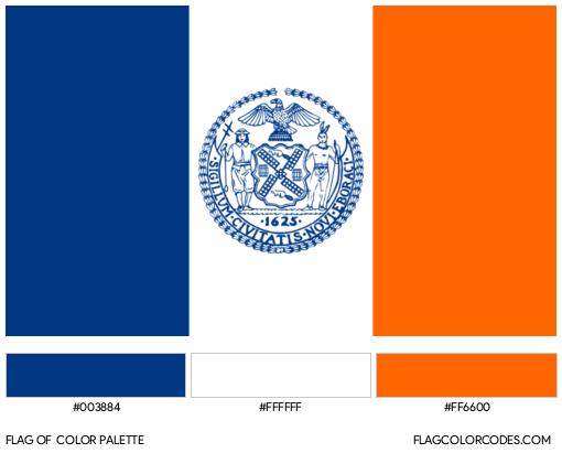New York Flag Color Palette