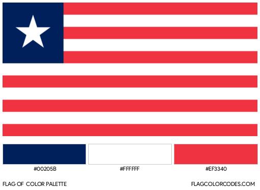 Liberia Flag Color Palette