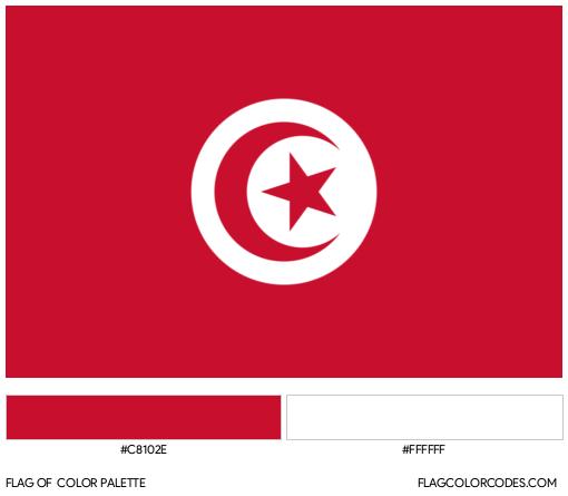 Tunisia Flag Color Palette