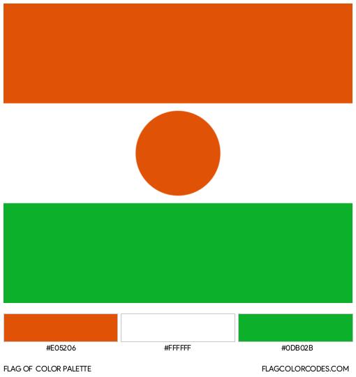 Niger Flag Color Palette