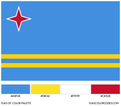 Aruba Flag Color Palette