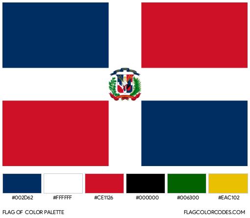 Dominican Republic Flag Color Palette