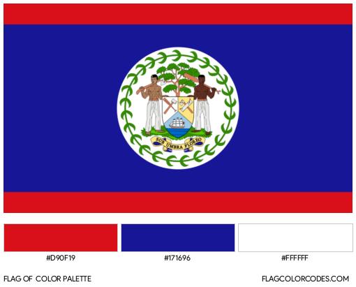 Belize Flag Color Palette