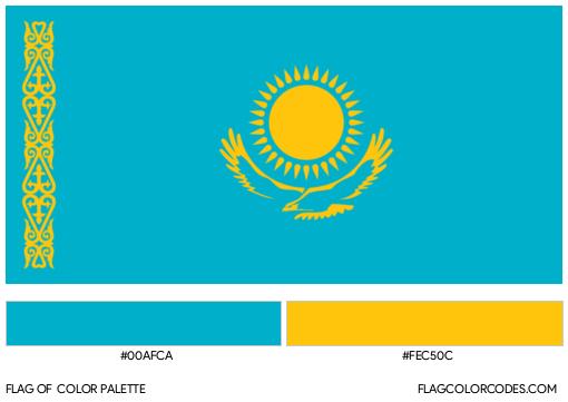 Kazakhstan Flag Color Palette