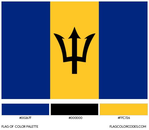 Barbados Flag Color Palette