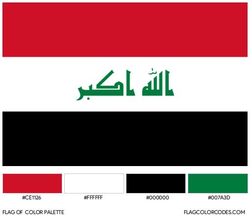 Iraq Flag Color Palette