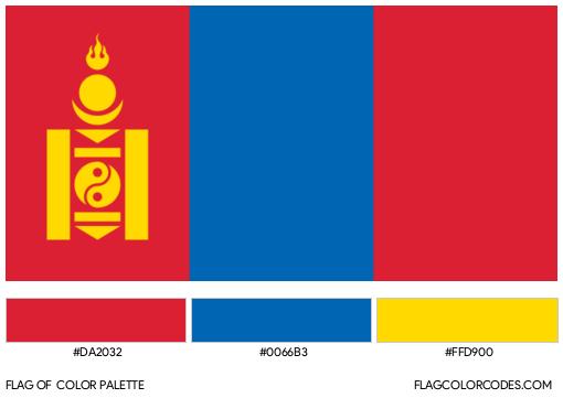 Mongolia Flag Color Palette