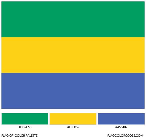 Gabon Flag Color Palette
