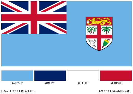 Fiji Flag Color Palette
