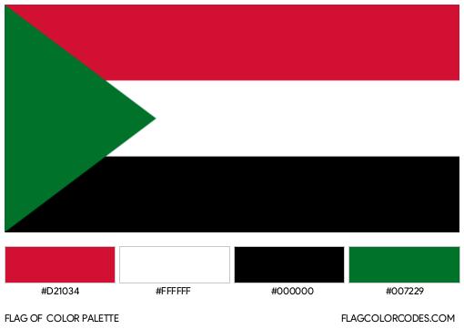 Sudan Flag Color Palette