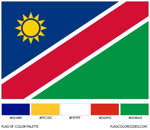 Namibia Flag Color Palette