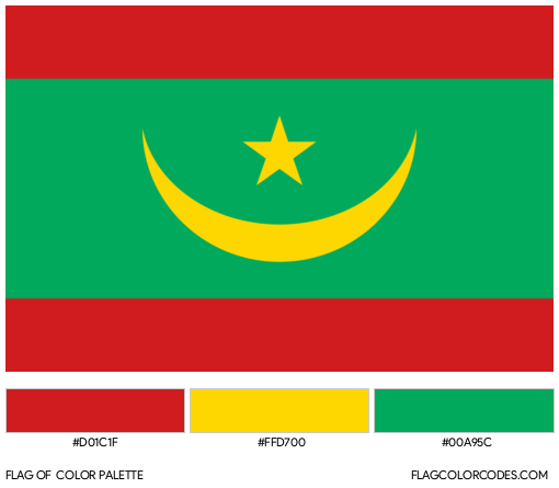 Mauritania Flag Color Palette