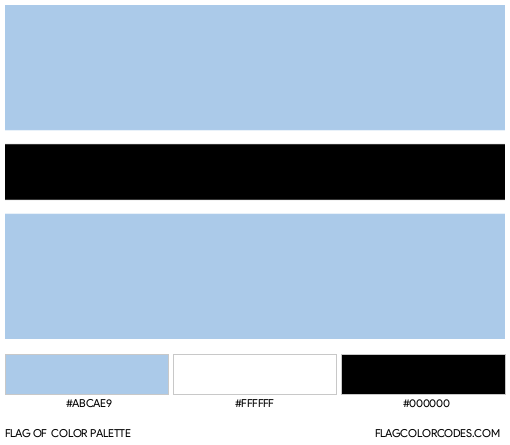 Botswana Flag Color Palette