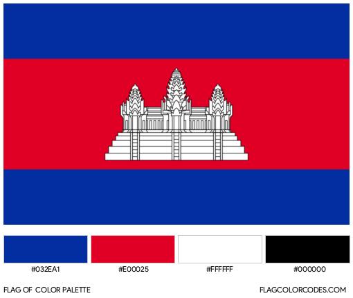 Cambodia Flag Color Palette