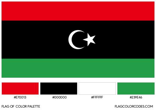 Libya Flag Color Palette
