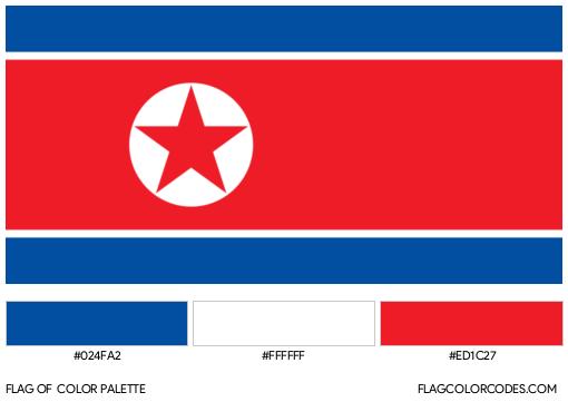 North Korea Flag Color Palette