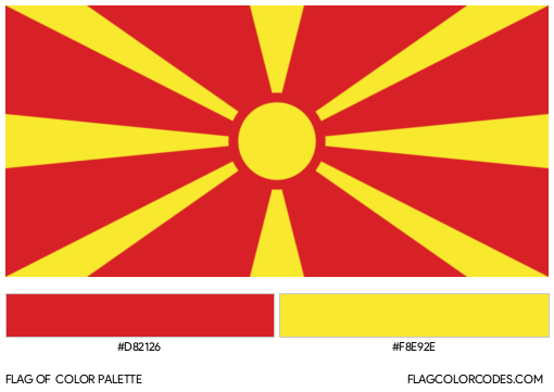 North Macedonia Flag Color Palette