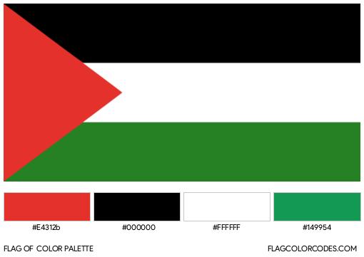 Palestine Flag Color Palette