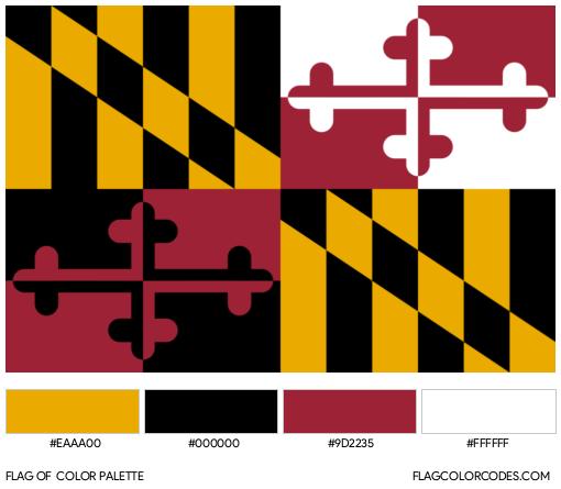 Maryland Flag Color Palette