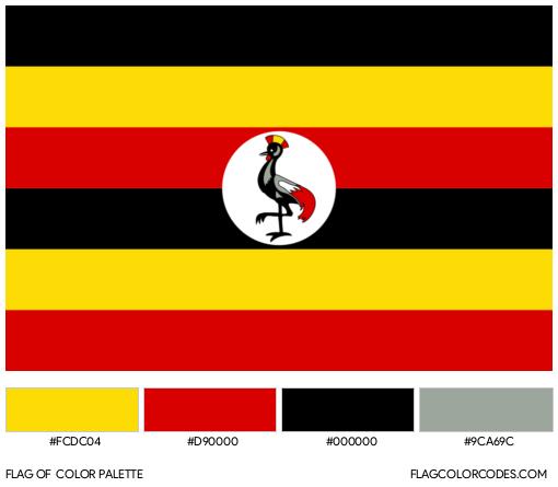 Uganda Flag Color Palette