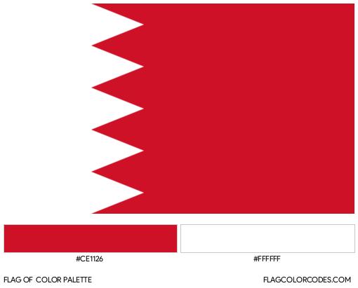 Bahrain Flag Color Palette