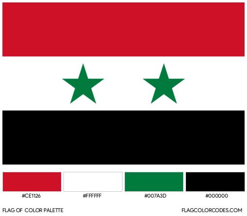 Syria Flag Color Palette